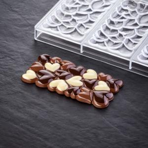 EROS PC5028FR Stampo in policarbonato tavoletta di cioccolato 3x100gr Pavoni