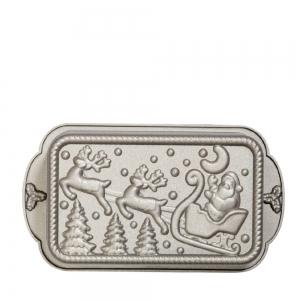 Stampo PLUMCAKE di NATALE 27x15cm H5,8cm in alluminio pressofuso Decora