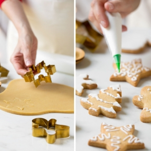 SET 5 TAGLIAPASTA CHRISTMAS IN ACCIAIO DORATO