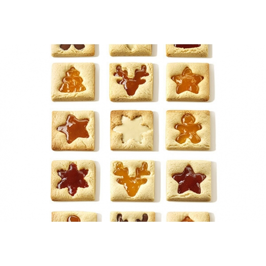 VOILA' COOKIE WINTER HOLIDAY Stampo formabiscotti T-Plus+ 24x15cm H2cm Silikomart