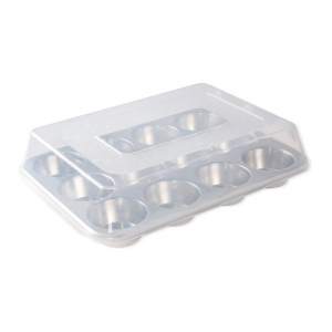 STAMPO 12-CUP MUFFIN PAN C/COPERTURA