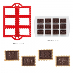 CIOC COOKIES Biscotti&Cioccolato Natale - set 2 pz Decora