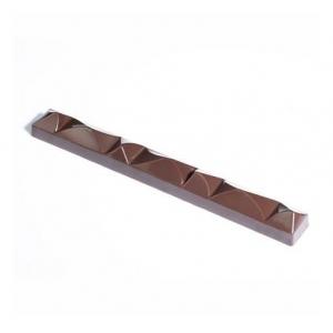 KITE XL MA7000 Stampo in policarbonato barretta di cioccolato 4 impronte 20x2,3cm H1,8cm Martellato