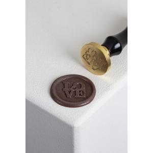 LOVE 20FH31L Timbro per cioccolato Ø6cm in ottone Martellato