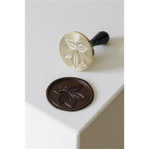 CACAO 20FH32L Timbro per cioccolato Ø6cm in ottone Martellato