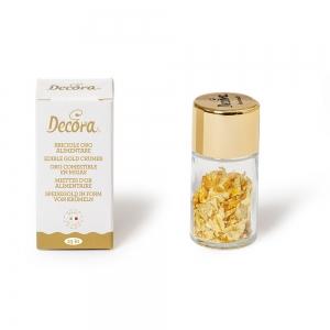 Oro alimentare in briciole - confezione 0,125gr Decora