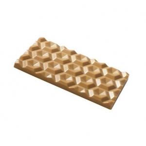 KALEIDOS MA2019 Stampo in policarbonato tavoletta di cioccolato 3 impronte 13x7,5cm H0,9cm Martellato