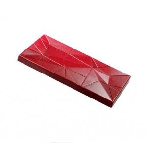MIRROR MA2022 Stampo in policarbonato tavoletta di cioccolato 3 impronte 13,8x7,2cm H0,9cm Martellato