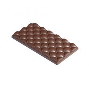 MINI QUILTED MA2020 Stampo in policarbonato tavoletta di cioccolato 3 impronte 13,3x7cm H1cm Martellato