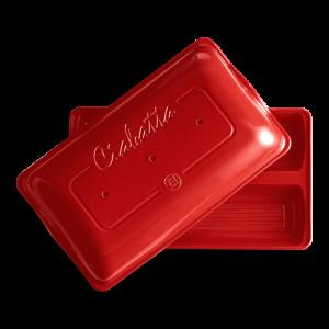 Cuocipane Ciabatta 2 pz rosso grand cru EH349502 Imballo Rinforzato Emile Henry