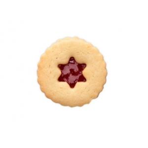 Tagliabiscotti STELLA per biscotti LINZER SPITZBUB Ø5,5cm H3cm ondulato Stadter
