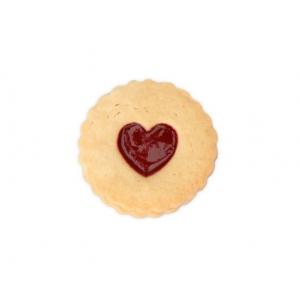 Tagliabiscotti CUORE per biscotti LINZER SPITZBUB Ø5,5cm H3cm ondulato Stadter