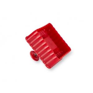 Tagliabiscotto QUADRATO 6x6cm H5cm con timbro ed espulsore in plastica Stadter