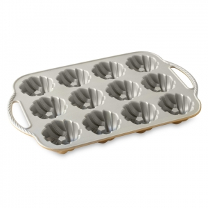 Stampo ANNIVERSARY BRAIDED MINI BUNDT PAN NW95377 12 impronte 3,5 cups Nordic Ware
