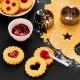Tagliabiscotti CERCHIO inserto TONDO per biscotti LINZER Ø5cm H3cm ondulato Birkmann