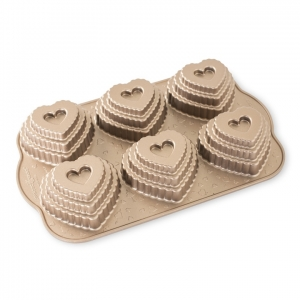 Stampo Tiered Heart Cakelet Nordic Ware