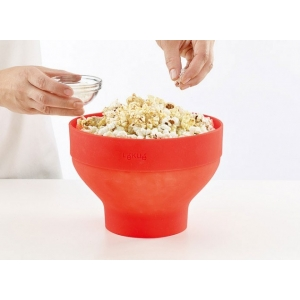 Popcorn Maker in silicone rosso per microonde Lékué