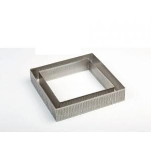 Cornice inox microforata quadrato H3,5cm per crostate Pavoni