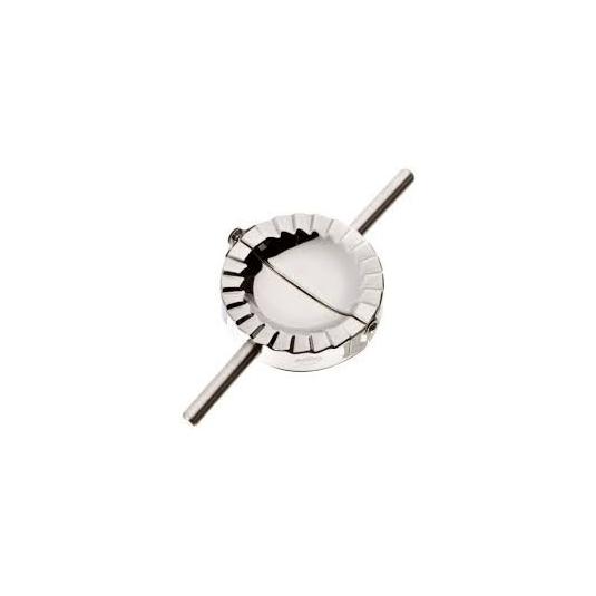 Forma ravioli a mezzaluna Ø12cm stampo e tagliapasta in acciaio inox Kuchenprofi