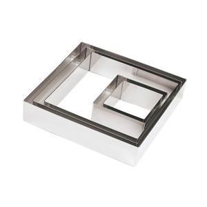 Quadrato Inox Altezza 5 cm