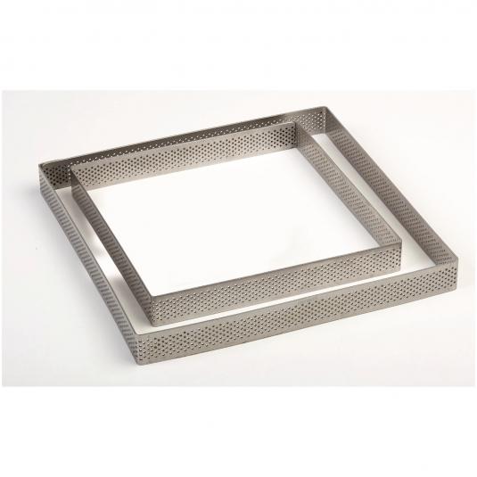 Fascia Inox Microforata Quadrata Altezza 2cm