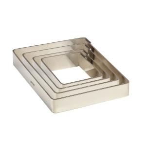 Fascia Inox Quadrata Altezza 2 cm