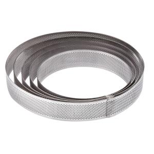 Anello inox microforato cerchio H3,5cm per crostate Pavoni