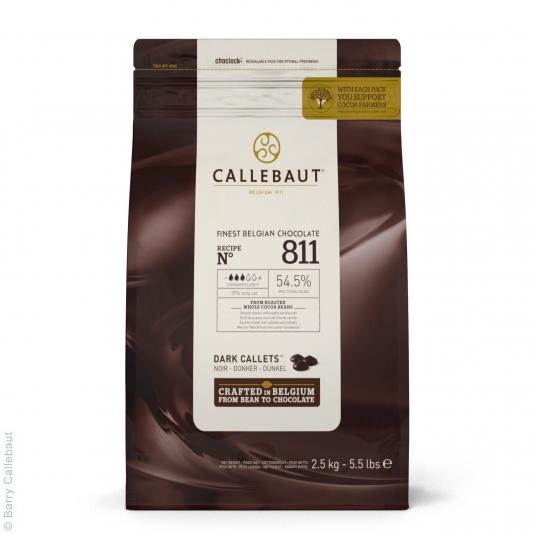 Cioccolato fondente 54,5% N.811 Sacco 2,5kg Callebaut