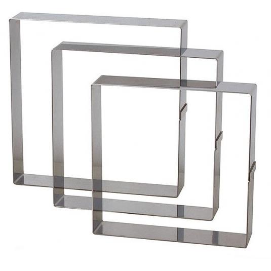 Quadrato Inox Altezza 4.5 cm