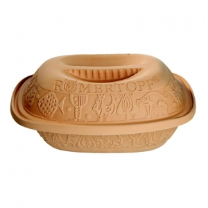 Cocotte con coperchio in terracotta Romertopf (2/4 porzioni)