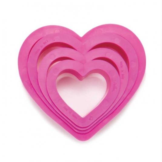 set 4 tagliapasta cuore