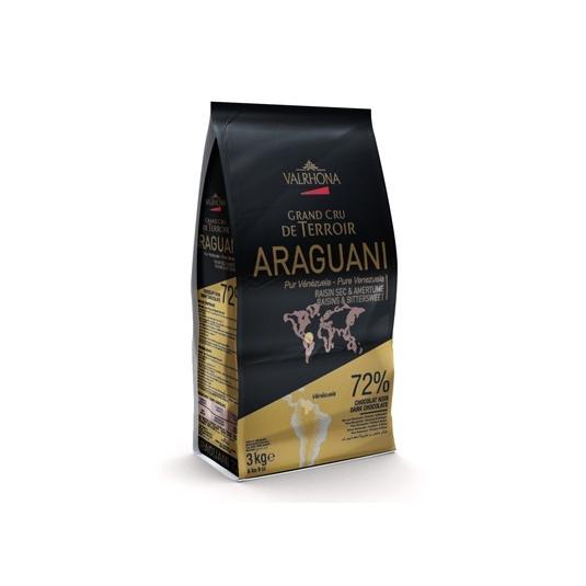 Cioccolato fondente ARAGUANI 72% Sacco da 3Kg Valrhona