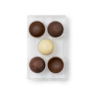Stampo Cioccolato Semisfere con Base 5 cm